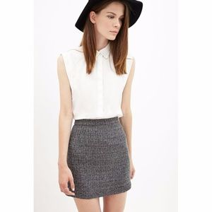 Speckled Tweed Mini-Skirt
